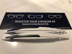 2a8305e32d6 Image is loading New-Oakley-Genuine-Jawbreaker-Replacement-White-Black-Arms-