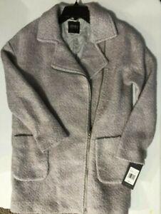 Jones-New-York-women-039-s-SZ-Small-Wool-Blend-coat-JW8MW833-Gray-overcoat