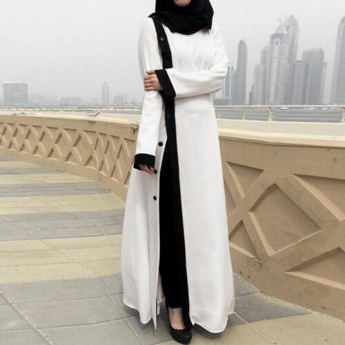 ZANZEA Women Muslim Dubai Kaftan Long Sleeve Tops Button Down Solid Shirt Blouse