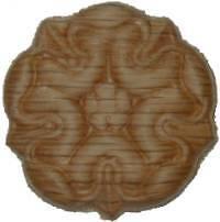 "OAK Embossed Wood Ornament 1 1//4/"" Rosette   W35791"