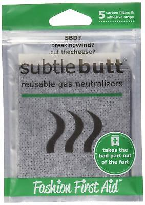 - Great Gag Gift Reusable Gas Neutralizers 5 Activated Carbon Fart Pads New