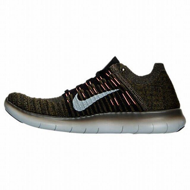 Nike free rn rn rn flyknit, männer - größen 10-10.5-11-13 cargokhaki / schwarz 831069-301 neu! 53b0d8