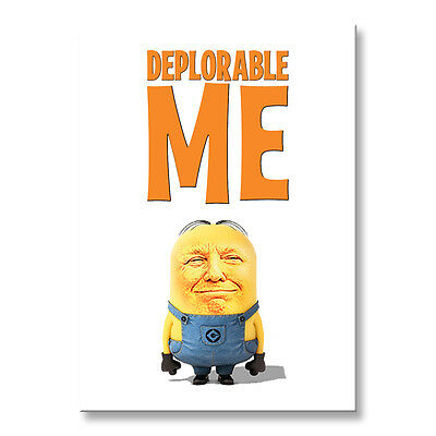 "DONALD TRUMP Deplorable Me 3 1//2/"" x 2 1//2/"" Steel Cased FRIDGE MAGNET"