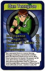Ben Tennyson Ben 10 Alien Force Top Trumps Card C425 Ebay