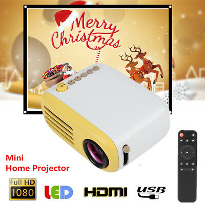 Mini HD 1080P LED LCD Portable Projector HDMI Multimedia Home Theater USB//TF//AV