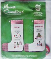 Rare Vintage Mouse Creations: Christmas Stocking Cross-stitch Kit -new
