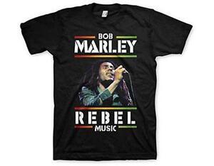 Official Licensed-Bob Marley-Football Texte T Shirt-Reggae Rasta Kaya