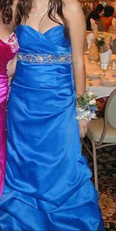 PROM DRESS - Gorgeous ROYAL Blau Gown (from MASQUERADE) Größe 11 12 - Worn Once.