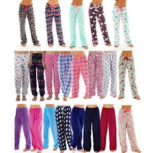 Ladies-Soft-Fleece-Pyjama-Bottoms-Lounge-Pants-Pyjamas-Size-10-12-14-16-18-20
