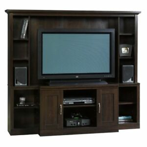 Sauder Large Entertainment Center Cinnamon Cherry