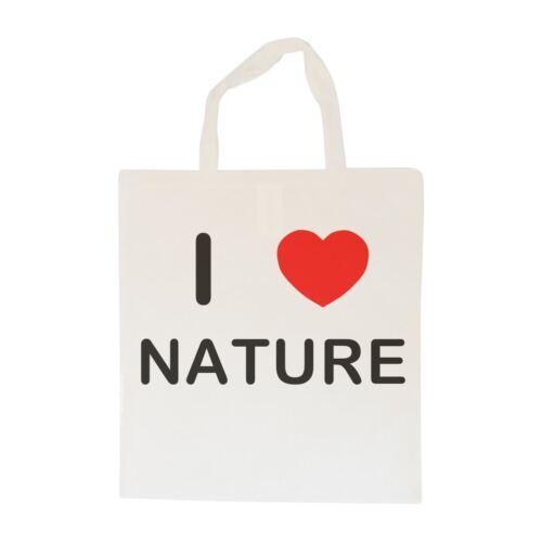 I Love Nature Cotton BagSize choice Tote Shopper or Sling