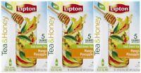 Lipton Tea & Honey To-go Packets - Mango Pineapple Iced Green Tea - 10 Ct - 3 Pk