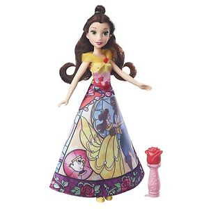 Disney Princess Belle's Magical Story Skirt Doll in Fuchsia/Yellow by Hasbro