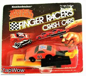 DUKES-OF-HAZZARD-FINGER-RACERS-1980s-CRASH-CARS-General-Lee-Knickerbocker-VTG