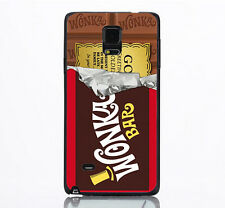 Willy Wonka Golden Ticket Chocolate Hard Case Back Cover For Samsung Note 4