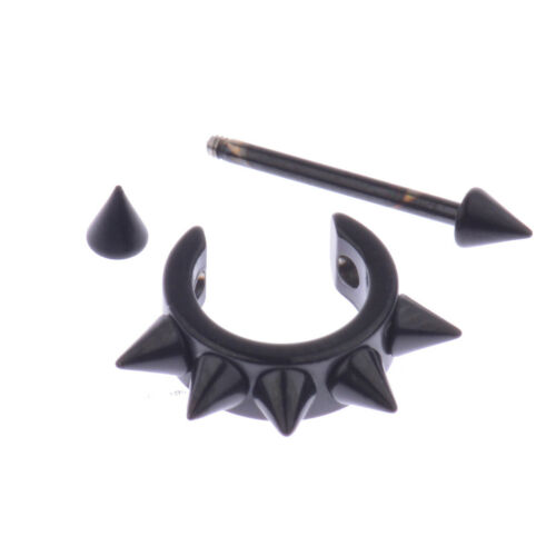 Fashion Gothic Cool Charm Punk Stainless Steel Crystal Piercing Ear Stud Earring