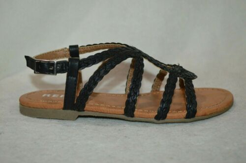 Size 11//13//1//2//3 NWB Report Girl/'s Constance GP Black Braided Sandals