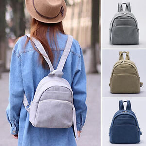 Women-039-s-Canvas-Small-Mini-Backpack-Rucksack-Daypack-Travel-bag-Purse-Cute-Bag