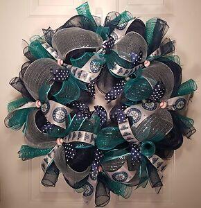 Seattle Mariners Mesh Wreath