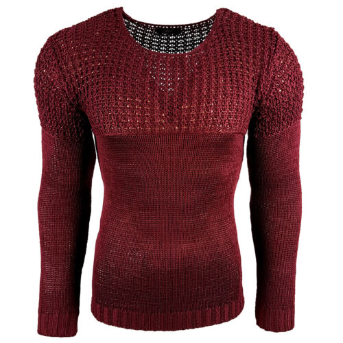 Pull Homme Col Arrondi Grosse Maille 824