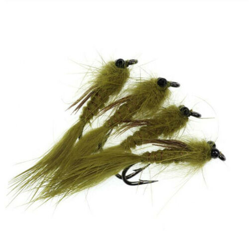 4PCS//Lot #10 Olive Living Dragon Fly Nymph Streamer for Trout Tackle Bait Lure