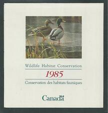 CANADA # CN-1 WILDLIFE HABITAT CONSERVATION STAMP BOOKLET 1985, MALLARDS
