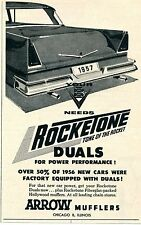 1957 Arrow Mufflers Rocketone Fiberglass Packed Duals For Power Performance Ad