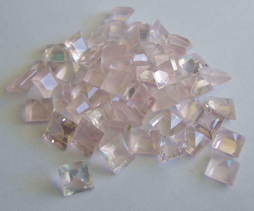 Details about  /LOVELY Lot of Natural ROSE Quartz 3x3 mm SQUARE FACETED CUT Loose Gemstone