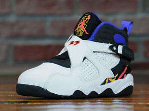 053c9c7bf95184 2015 Nike Air Jordan 8 VIII Retro BG SZ 6.5Y Three 3 Peat Concord GS ...