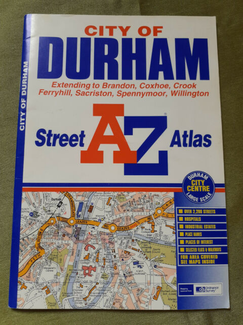 A-Z Durham Street Atlas Geographers' A-Z Map Company First Edition 2002