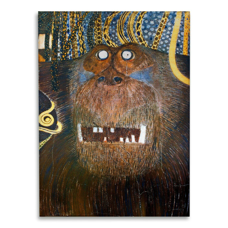 Vetro Acrilico - Gustav Klimt - Gigante Tifeo - Tirage d'Art - Prêt à accrocher