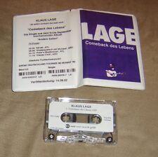 KLAUS LAGE Comeback des Lebens 1 track Promo MC 1992 RAR Ein Lachen in Reserve**