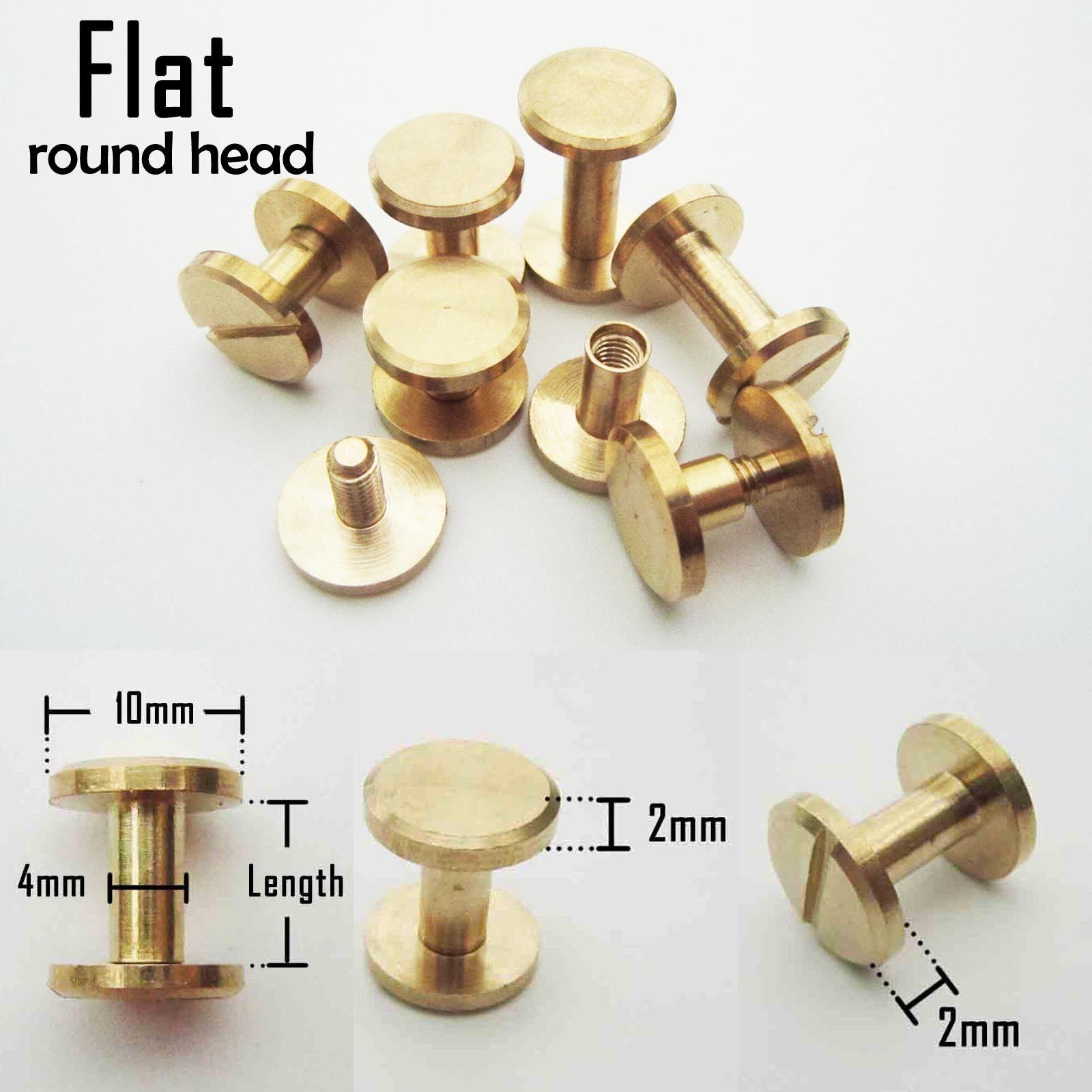 Flat round head