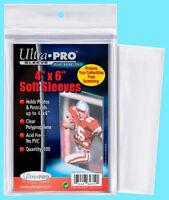 100 Ultra Pro 4x6 Premium Soft Sleeves Postcard Photo Acid Free Clear Poly