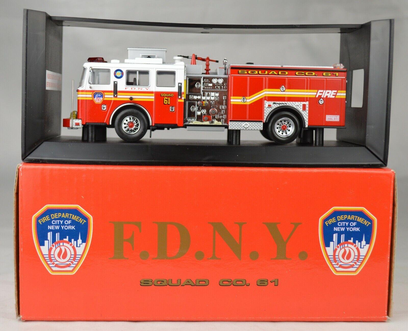ahorre 60% de descuento Código 3  12654 Fd New York York York Seagrave escuadrón Co  61 camión de bomberos 5 3 4  Menta Con Caja  compras online de deportes