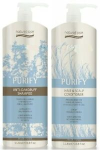 Natural-Look-Purify-Anti-Dandruff-Shampoo-amp-Scalp-Conditioner-1L-Duo-with-Pumps