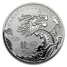 Canada 2012 S$10 Silver Dragon Early Releases Bullion Coin Canadian