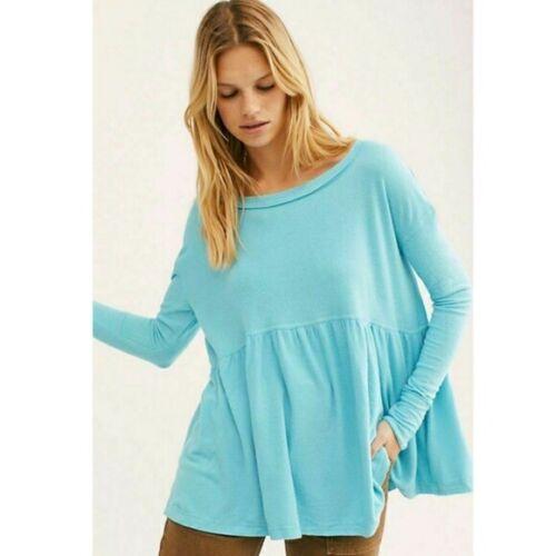 Peuple Libre à jamais votre fille turquoise drapé Tee Babydoll S M L XL Neuf Avec Étiquettes 68 $