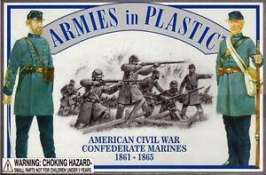 ARMIES-IN-PLASTIC-5460-Civil-War-Confederate-Marines-1861-65-20-Plastic-Figures