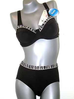 40 C blau schwarz NEU GB36 // FR42 // IT46 AE TRIUMPH Sloggi Bikini Oberteil