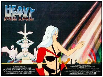 Heavy Metal Movie Poster Animated Adult Sci Fi Fantasy 1981 Taarna Art 10 Ebay