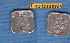 Allemagne-50-Pfennig-1920-necessite-allemandes-Germany