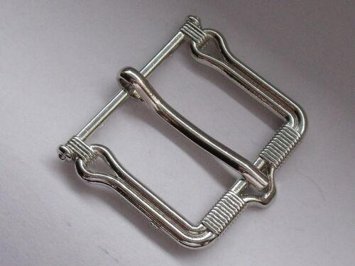 Adorno en la cintura cierro hebilla cierre de 2 cm de plata inoxidable mercancía nueva #675#