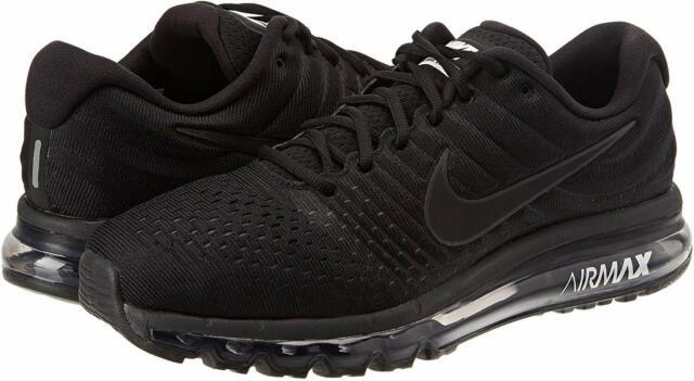 Nike Air Max 2017 Running Shoe for Men, Size 10 - Black/Black/Black