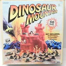 Dinosaur Mountain TimMee Toys playset complete Tim Mee Jurassic Park Marx Style