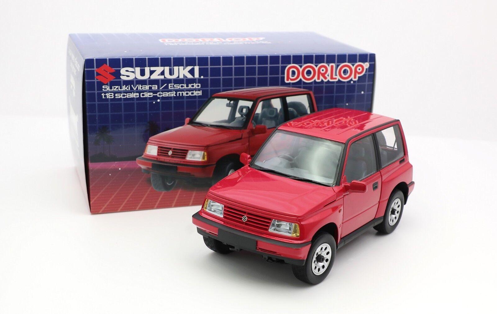 1 18 DORLOP Suzuki Vitara Escudo Early Version RHD New Junior Diecast Model RED