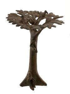Bronzo Dogon Albero Baobab E Antenato Mali -urna-arte Africano -aa 1133