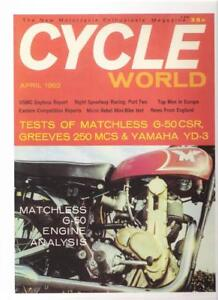 1962 Matchless G50CSR Cycle World cover photo REPRO