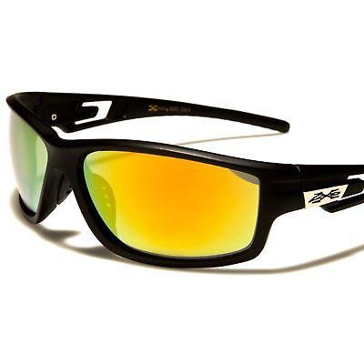 Mirrored Mirror Lens Rectangular Sporty Plastic Frame Sunglasses Red