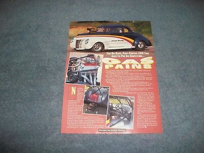"1940 Ford Coupe Super Gas Drag Vintage Artikel "" Gas Pains Zoll Bequem Zu Kochen"
